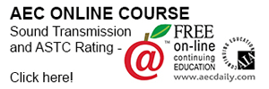 AEC Online Course - Sound Transmission and ASTC Rating. Click here!