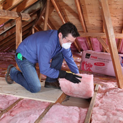 Owens corning r 20 ecotouch pink fiberglas insulation for Blown in insulation vs batts