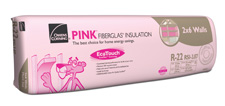 Owens corning r 22 ecotouch pink fiberglas insulation for Pink insulation r value